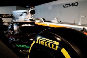 Sahara Force India F1 VJM10 - Pirelli tyre. Sahara Force India F1 VJM10 Launch, Wednesday 22nd February 2017. Silverstone, England.