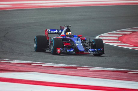 Carlos Sainz of Spain and Scuderia Toro Rosso drives the STR10 in Misano, Italy on February 22, 2017
