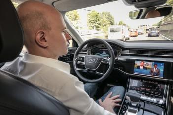 Audi AI traffic jam pilot in the new Audi A8