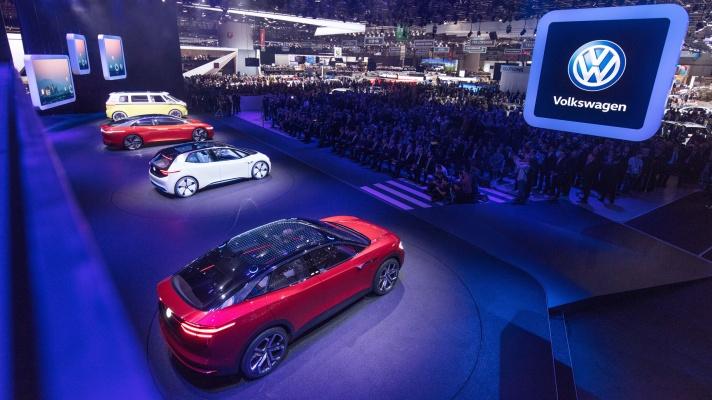 Volkswagen Pressekonferenz, Internationaler Automobilsalon Genf 2018