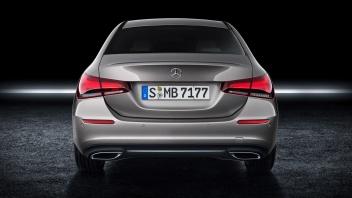 Mercedes-Benz A-Klasse Limousine, Mojavesilber, Interieur: Leder macchiato Mercedes-Benz A-Class Sedan, Mojave silver, Interior: Leather macchiato