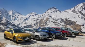 Volkswagen Arteon, Golf Alltrack, Tiguan R-Line and Passat Alltr