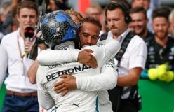 Formel 1 - Mercedes-AMG Petronas Motorsport, Großer Preis von Italien 2018. Lewis Hamilton, Valtteri Bottas Formula One - Mercedes-AMG Petronas Motorsport, Italian GP 2018. Lewis Hamilton, Valtteri Bottas