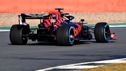 Max Verstappen of the Netherlands driving the Aston Martin Red Bull Racing RB15 on track during Red Bull Racing Filming Day at Silverstone Circuit on February 13, 2019 in Northampton, England. // Getty Images / Red Bull Content Pool // AP-1YE5ZHFAH1W11 // Usage for editorial use only // Please go to www.redbullcontentpool.com for further information. //