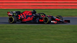 Max Verstappen of the Netherlands driving the Aston Martin Red Bull Racing RB15 on track during Red Bull Racing Filming Day at Silverstone Circuit on February 13, 2019 in Northampton, England. // Getty Images / Red Bull Content Pool // AP-1YE7BWHQS1W11 // Usage for editorial use only // Please go to www.redbullcontentpool.com for further information. //
